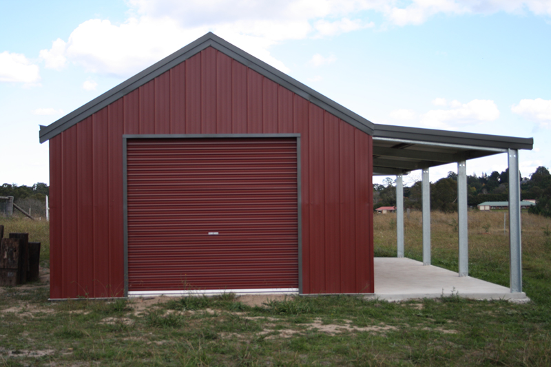 Garage with garaport and lean to fair dinkum sheds for Lean to addition to garage
