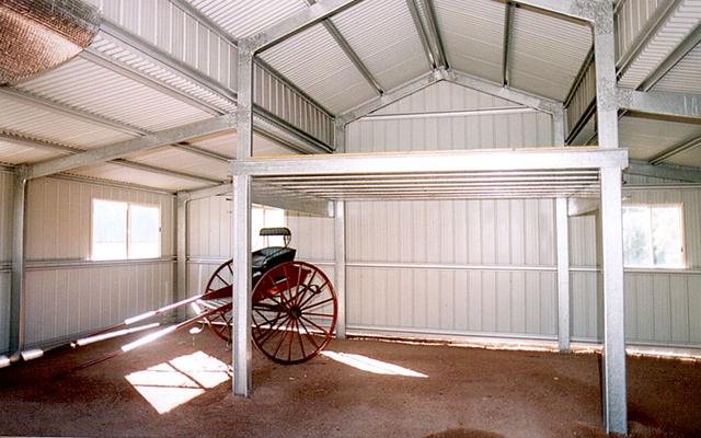 American Barn With 3 Roller Doors Fair Dinkum Sheds