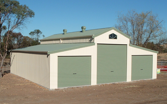 American barn with 3 roller doors fair dinkum sheds for 3 bay shed