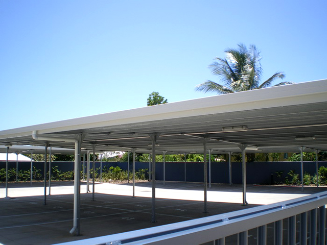 Colorado Flat Roof Carport : Double flat roof carport fair dinkum sheds