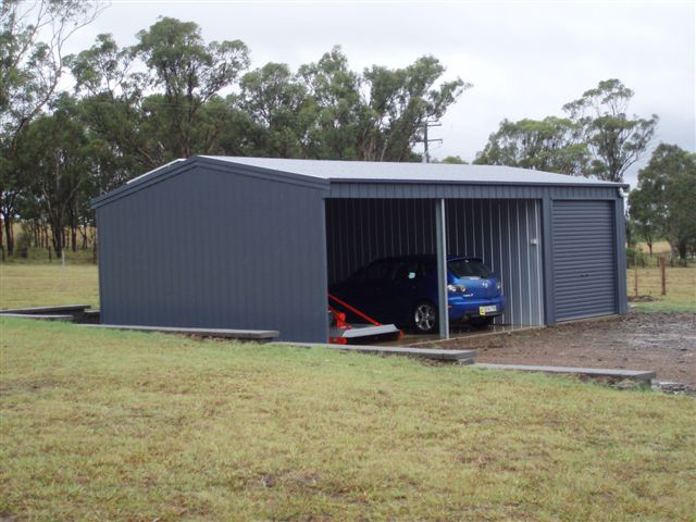Image gallery 2 car shed for Two car garage shed