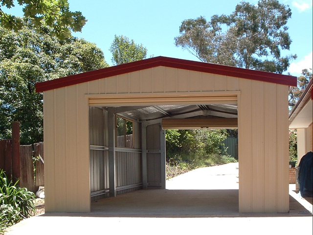 Single garage fair dinkum sheds for Single garage with carport